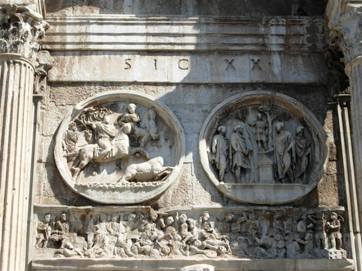 Arch of Constantine - detail, Things to do in Rome, Italy