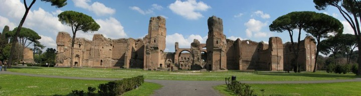 Baths of Caracalla - panorama, Things to do in Rome, Lazio, Italy