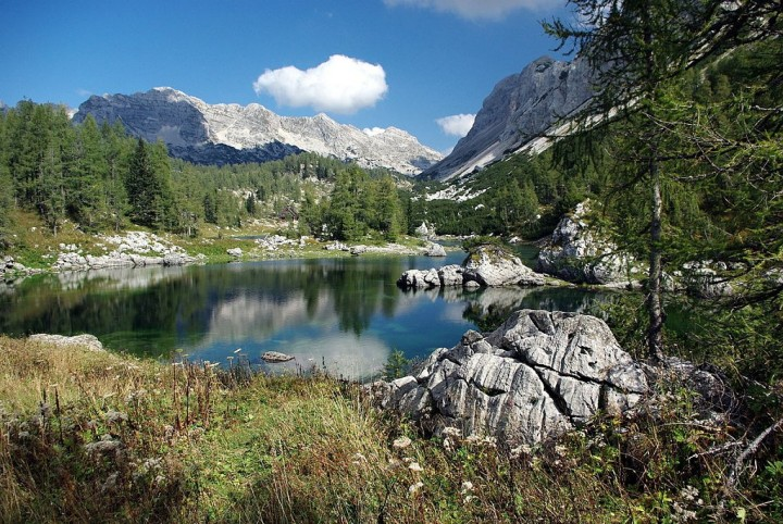 Dvojno jezero (Double Lake), Triglav Lakes Valley, Most beautiful places in Slovenia