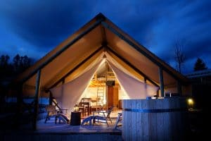 Garden Village Bled Glamping Tents - unique accommodation in Slovenia