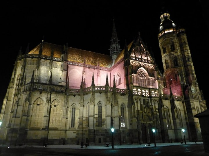 Gothic Cathedral of St Elisabeth, during evening, Košice, Top places to visit in Slovakia