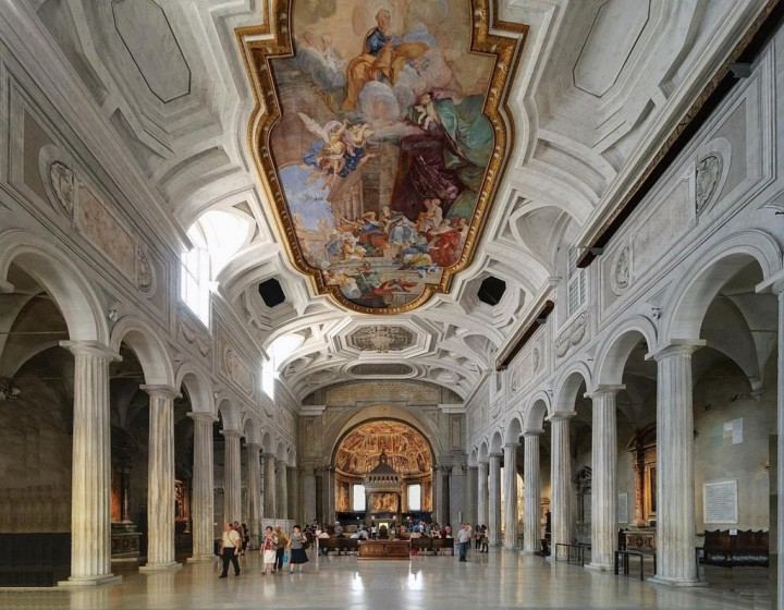 The interior of San Pietro in Vincoli, Things to do in Rome, Lazio, Italy