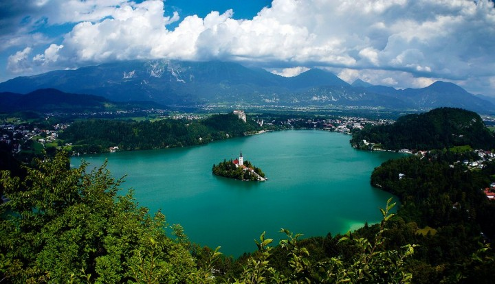 View of Lake Bled in Slovenia from Mala Osojnica, Most beautiful places in Slovenia