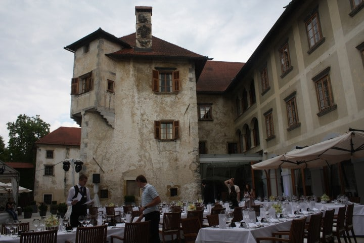 Otočec Castle courtyard, Most beautiful places in Slovenia