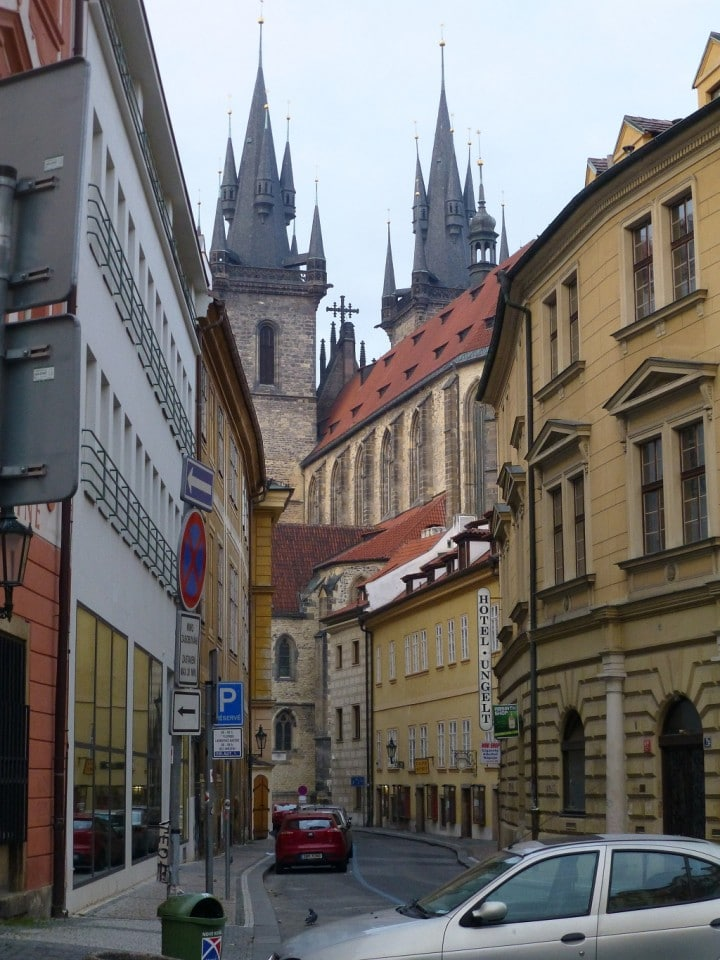 Empty streets in Prague, Tynska street, The Czech Republic