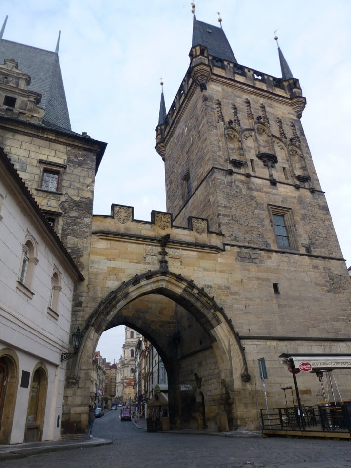 Empty streets in Prague, Lesser Town Bridge Tower, The Czech Republic