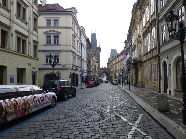 Empty streets in Prague, Mostecka street, The Czech Republic