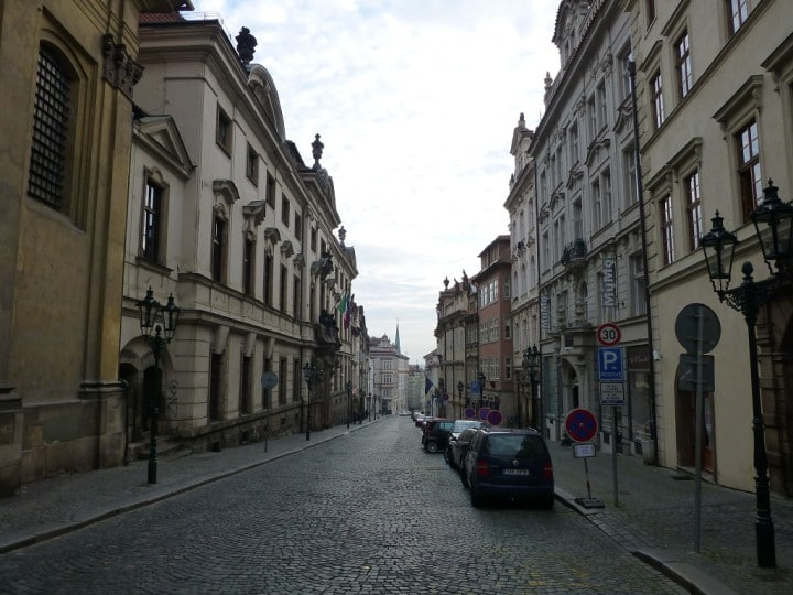 Empty streets in Prague, Nerudova street, The Czech Republic