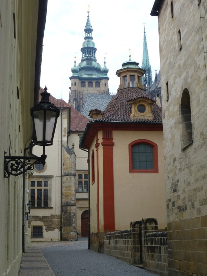 Empty streets in Prague, castle, The Czech Republic