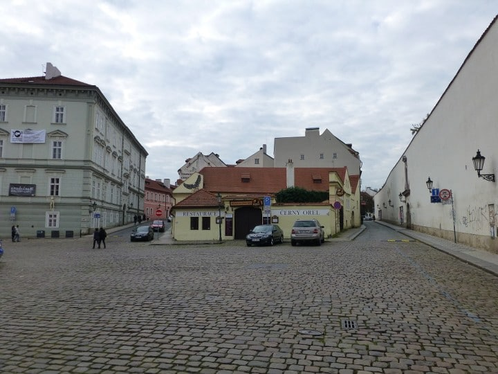 Empty streets in Prague, Lesser town, The Czech Republic