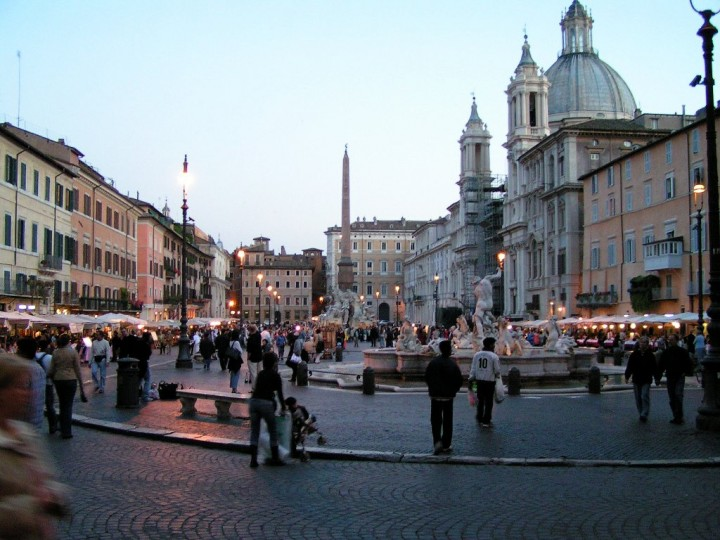 Piazza Navona in the evening, Things to do in Rome, Lazio, Italy