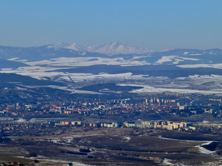 Prešov with High Tatras mountains above - as seen from Zbojnícky hrad castle ruins, Top places to visit in Slovakia