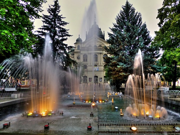 Singing fountain and State theatre in Košice city, Top places to visit in Slovakia