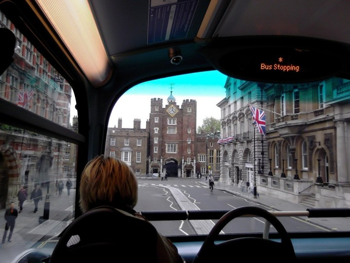 St James's Palace from the bus, Things to do in London, England, UK
