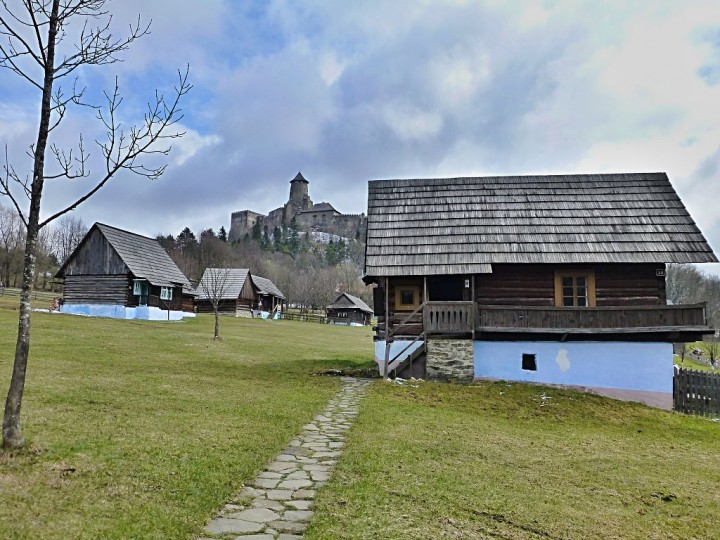 Stará Ľubovňa Open-Air Museum with Castle above, Top places to visit in Slovakia