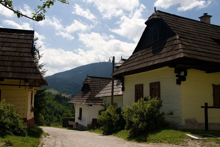 Street in Vlkolínec - UNESCO village, Top places to visit in Slovakia