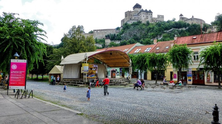 Trenčín city center with the castle above, Top places to visit in Slovakia