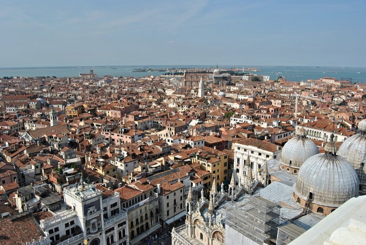 View from St Mark's Campanile, Things to do in Venice, Italy