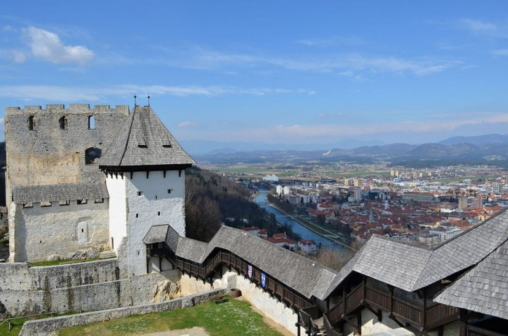 View over Celje from Old town castle, Most beautiful places in Slovenia