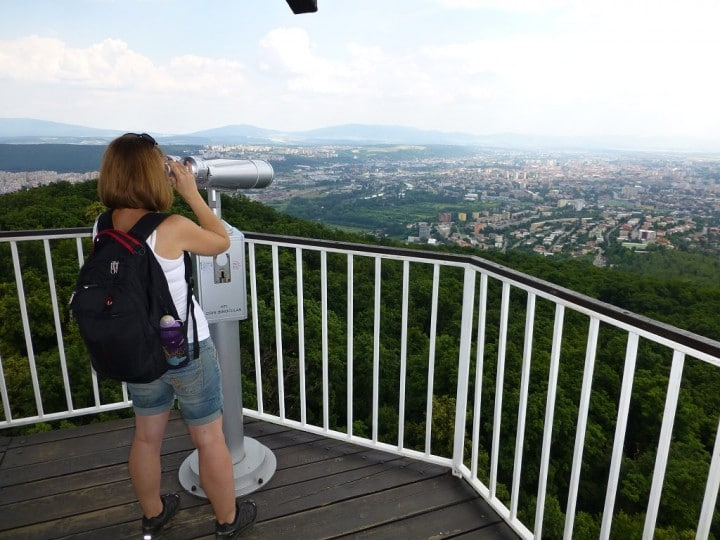 View over city of Košice from watch tower, Top places to visit in Slovakia