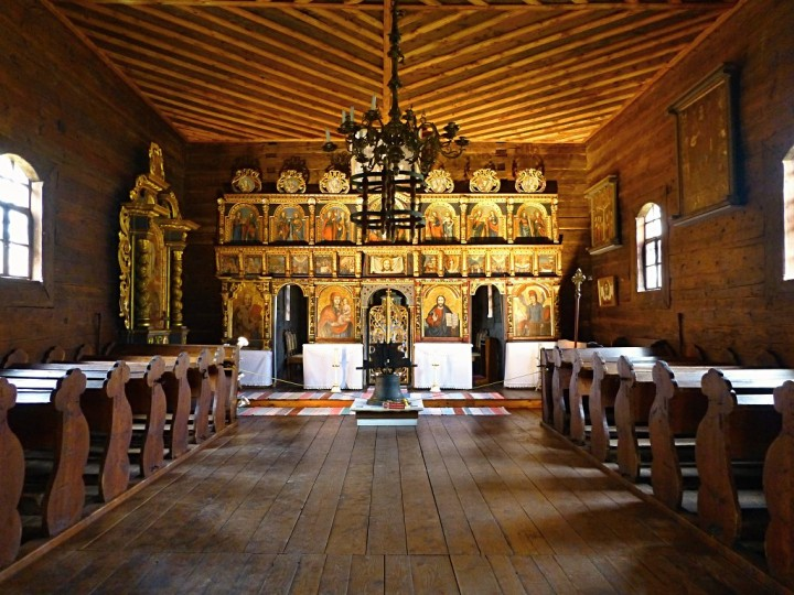 Wooden church interior, Stará Ľubovňa Open-Air Museum, Top places to visit in Slovakia