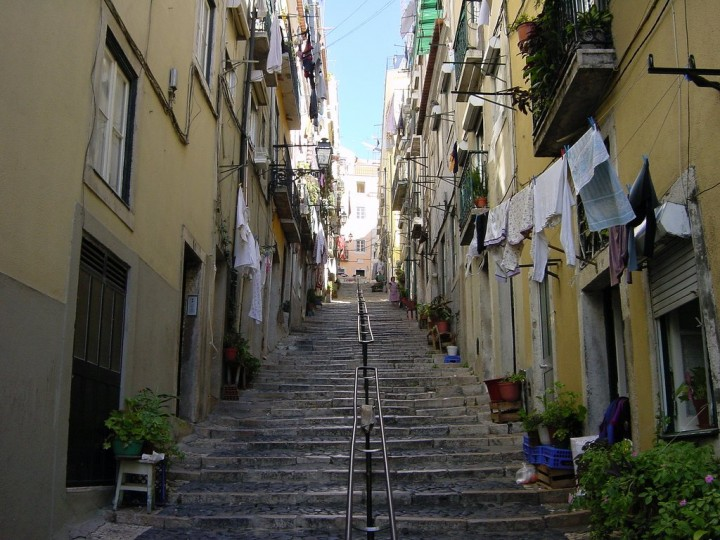 Street in Alfama, Top Places to see in Lisbon, Portugal
