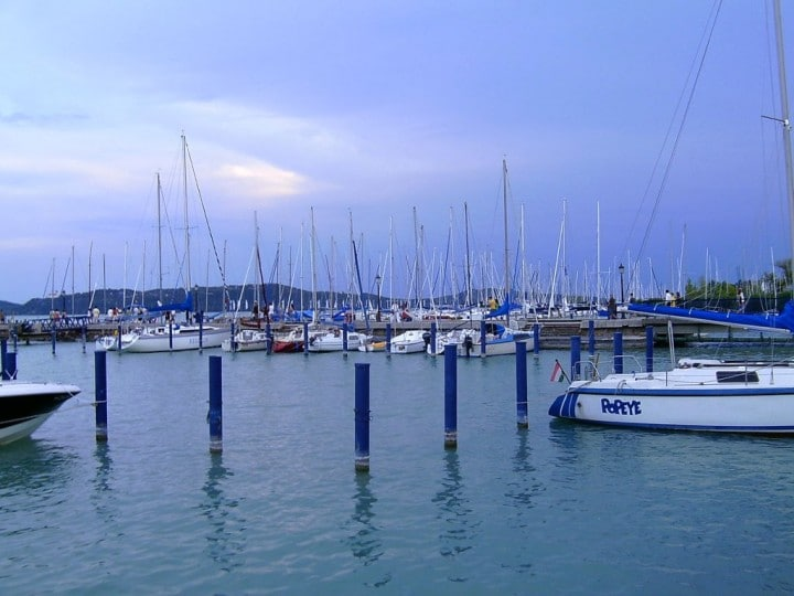 Boats in Balatonfüred, Most beautiful cities and towns in Hungary