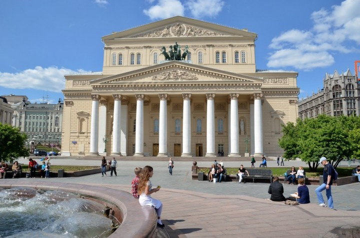 Bolshoi Theatre, Most beautiful places in Moscow, Russia