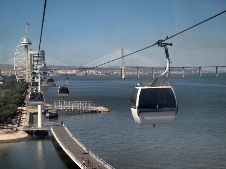 Cablecar at Parque das Nacoes, Top Places to See in Lisbon, Portugal