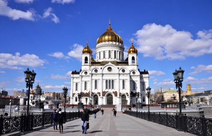 Cathedral of Christ the Savior, Most beautiful places in Moscow, Russia
