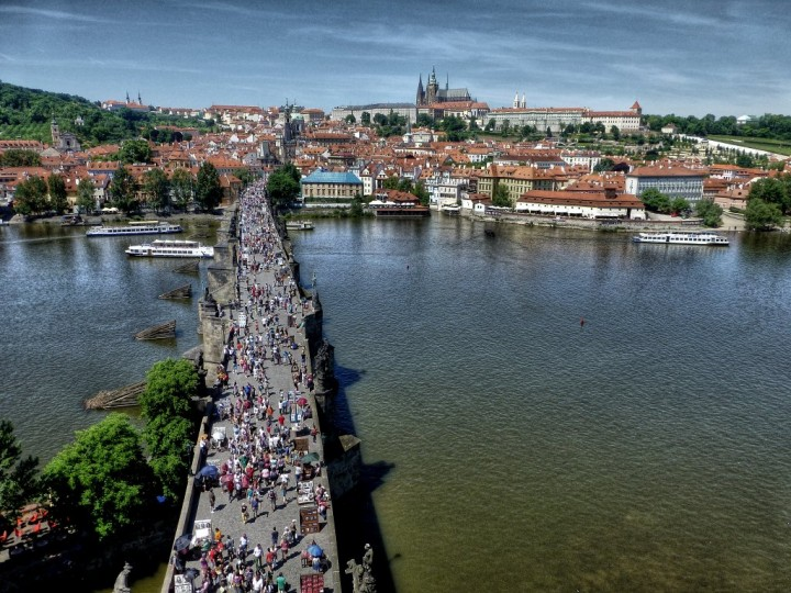 Charles bridge and Prague castle from Old Town Bridge Tower, Things to do in Prague, The Czech Republic