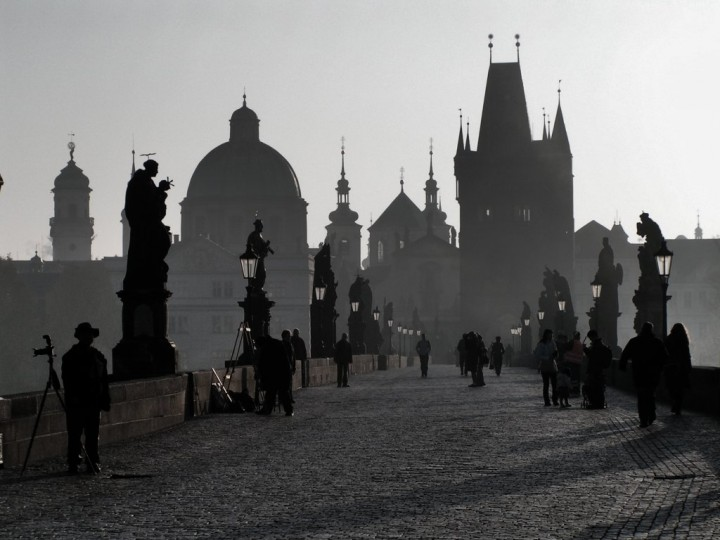 Charles bridge in the freezing morning, Things to do in Prague, The Czech Republic