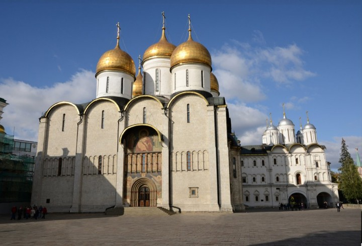 Dormition Cathedral, Kremlin, Most beautiful places in Moscow, Russia
