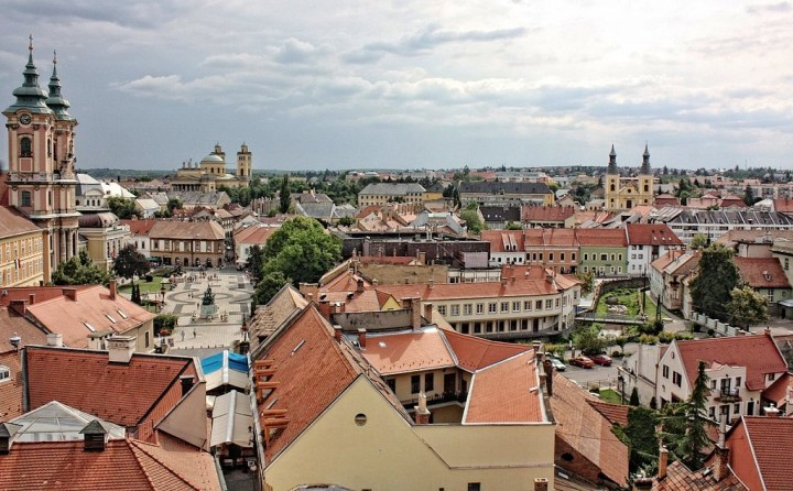 Eger - view from the Castle, Most beautiful cities and towns in Hungary