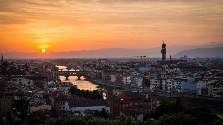 Florence sunset, Tuscany, Italy - Things to do in Florence