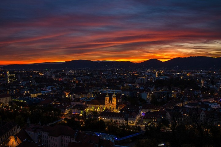 Graz at Night, Things to do in Graz, Austria