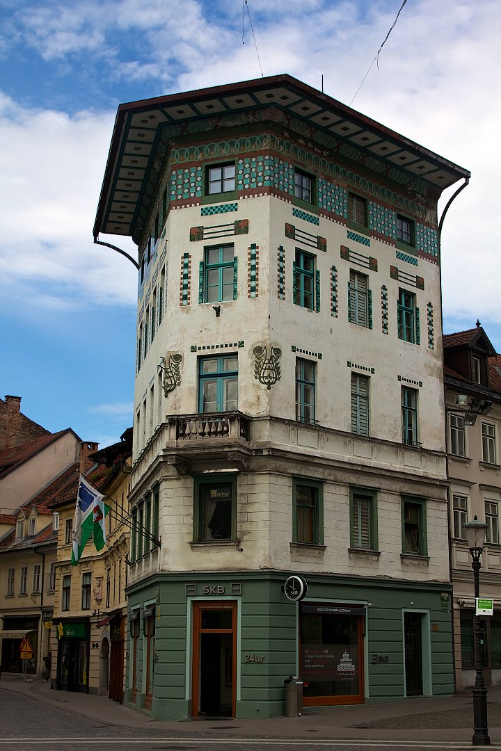 Hauptmann House on Prešeren Square, What to see in Ljubljana, Slovenia