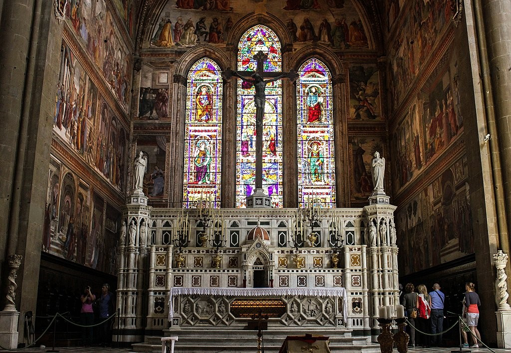 Inside Basilica of Santa Maria Novella, Places to visit in Florence, Tuscany, Italy