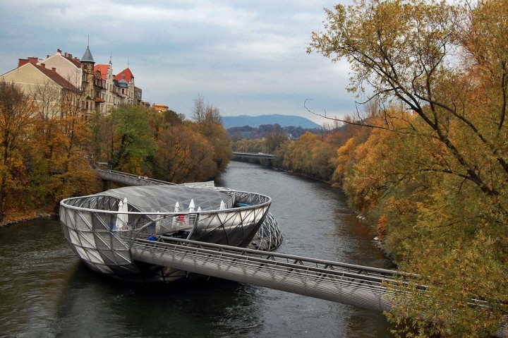 Mur Island, Things to do in Graz, Austria