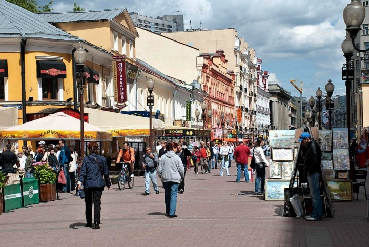 Old Arbat, Most beautiful places in Moscow, Russia