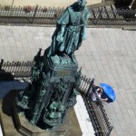 Emperor Charles IV. as seen from Old Town Bridge Tower, Prague, The Czech Republic