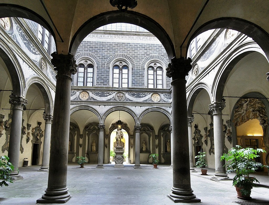 Palazzo Medici courtyard, Places to visit in Florence, Tuscany, Italy