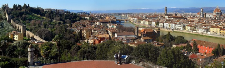 Panoramic view of Florence taken from Piazzale Michelangelo, Places to visit in Florence, Italy