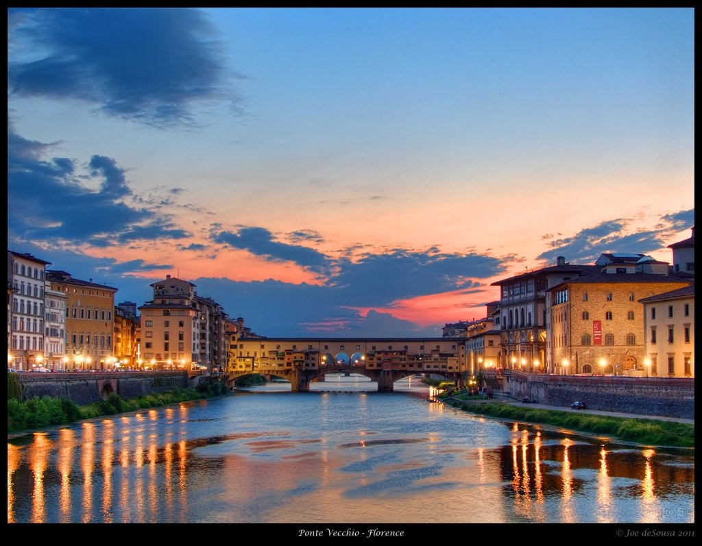 Ponte Vecchio sunset, Places to visit in Florence, Tuscany, Italy