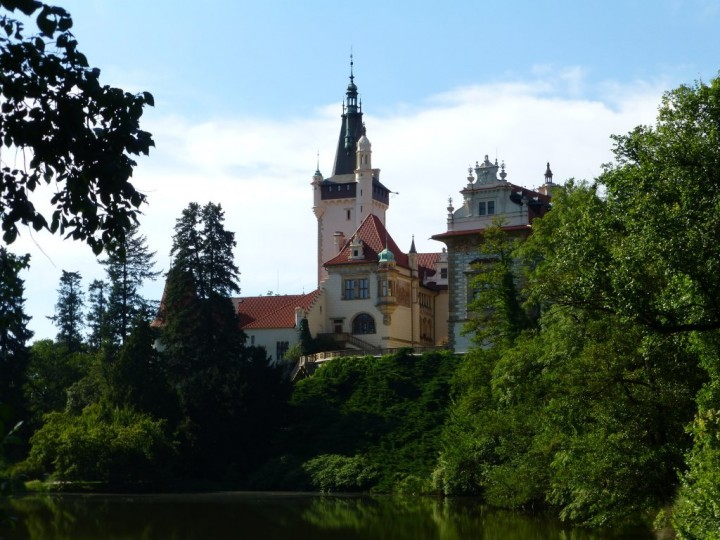 The castle in The Průhonice Park, The Czech Republic