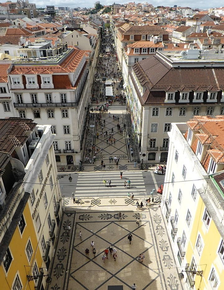 Rua Augusta pedestrian street as seen from Arch, Top Places to see in Lisbon, Portugal