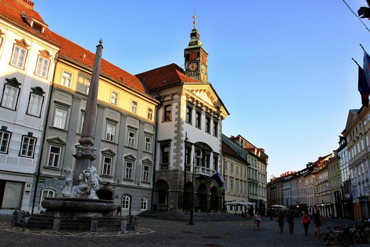 Town Hall and Old Town streets, What to see in Ljubljana, Slovenia