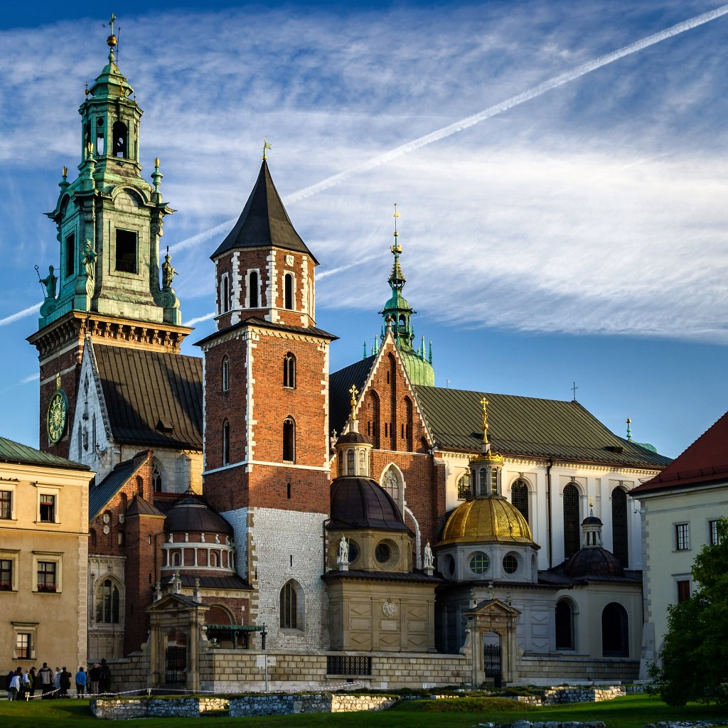 Wawel Cathedral on Wawel Hill, Krakow, Poland