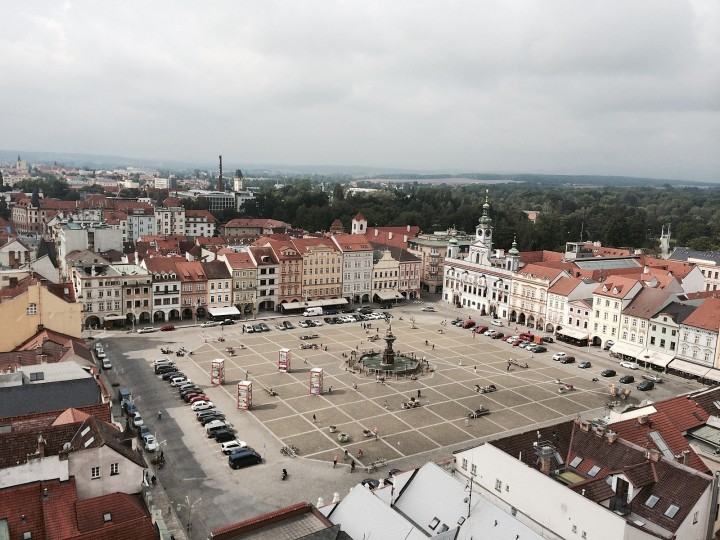 České Budějovice from Black Tower, The Czech Republic