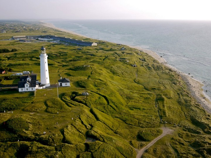 Hirtshals lighthouse, beautiful cities and towns in Denmark